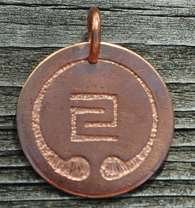 IOGKF Mon Pendant, Copper, 1 1/4 inch