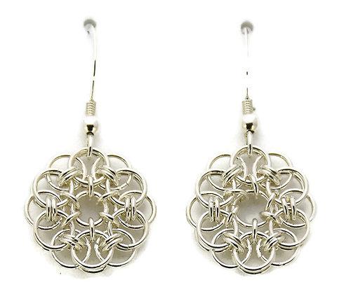 Sterling Silver Celtic Medallion Earrings