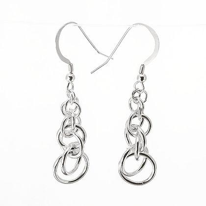 Sterling Silver Spiral Weave Earrings
