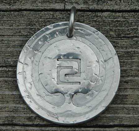 IOGKF Mon Pendant, Embosssed Textured Aluminum