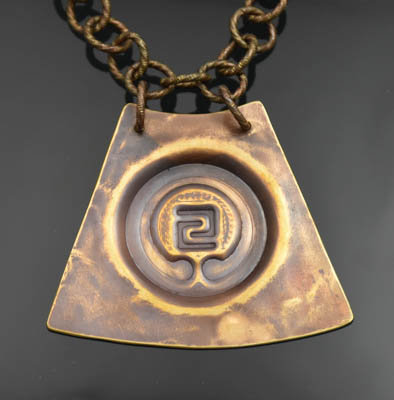 Distressed Bronze IOGKF Necklace (S)