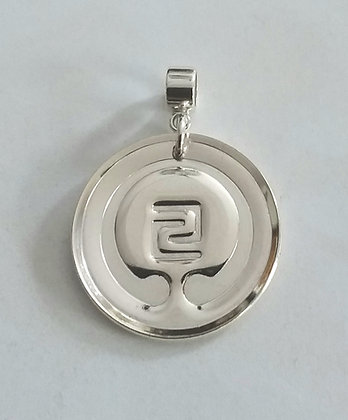 IOGKF MON in Sterling Silver with Tube Bail