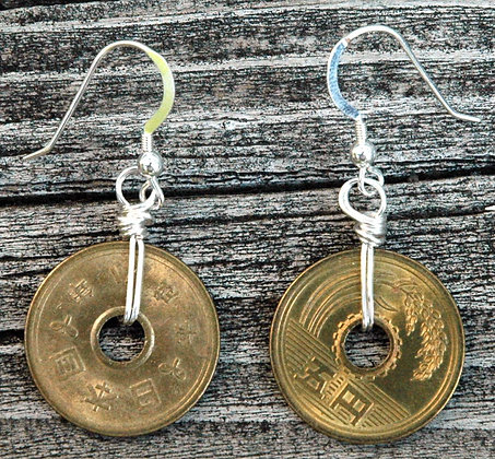 Okinawan Coin Earrings