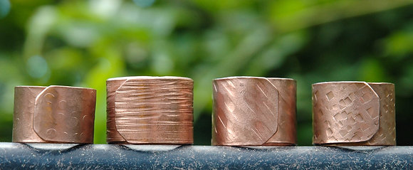 Textured Copper Wrap Rings