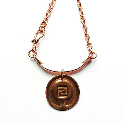IOGKF Mon with Hand Forged Bail, Copper