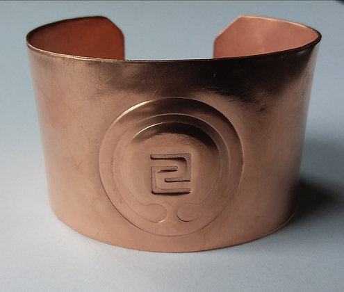 IOGKF Embossed Copper Cuff Bracelet