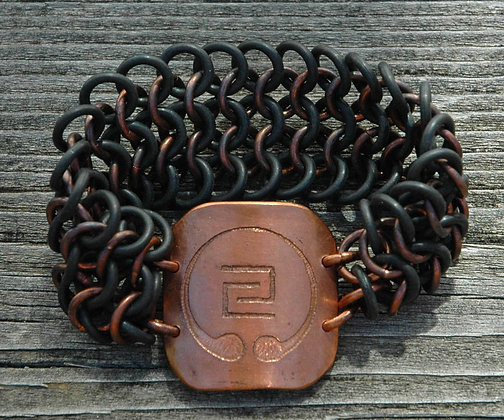 Copper IOGKF Mon with Stretch Maille Bracelet