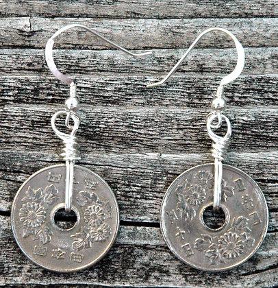 Okinawan Coin Earrings