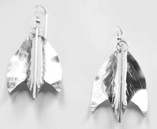 Striped Maple Leaf Earrings.....