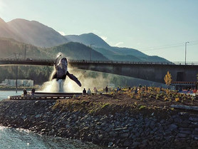 Tahku, the Alaska Whale Sculpture, Juneau AK