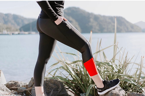 Shelly Beach Pocket Tights - Red