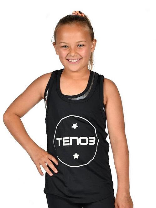 Tennyson Kids Singlet - Black