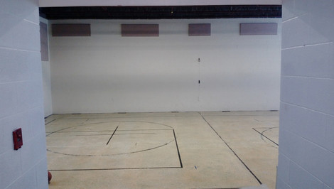 Hall way view to the Gym