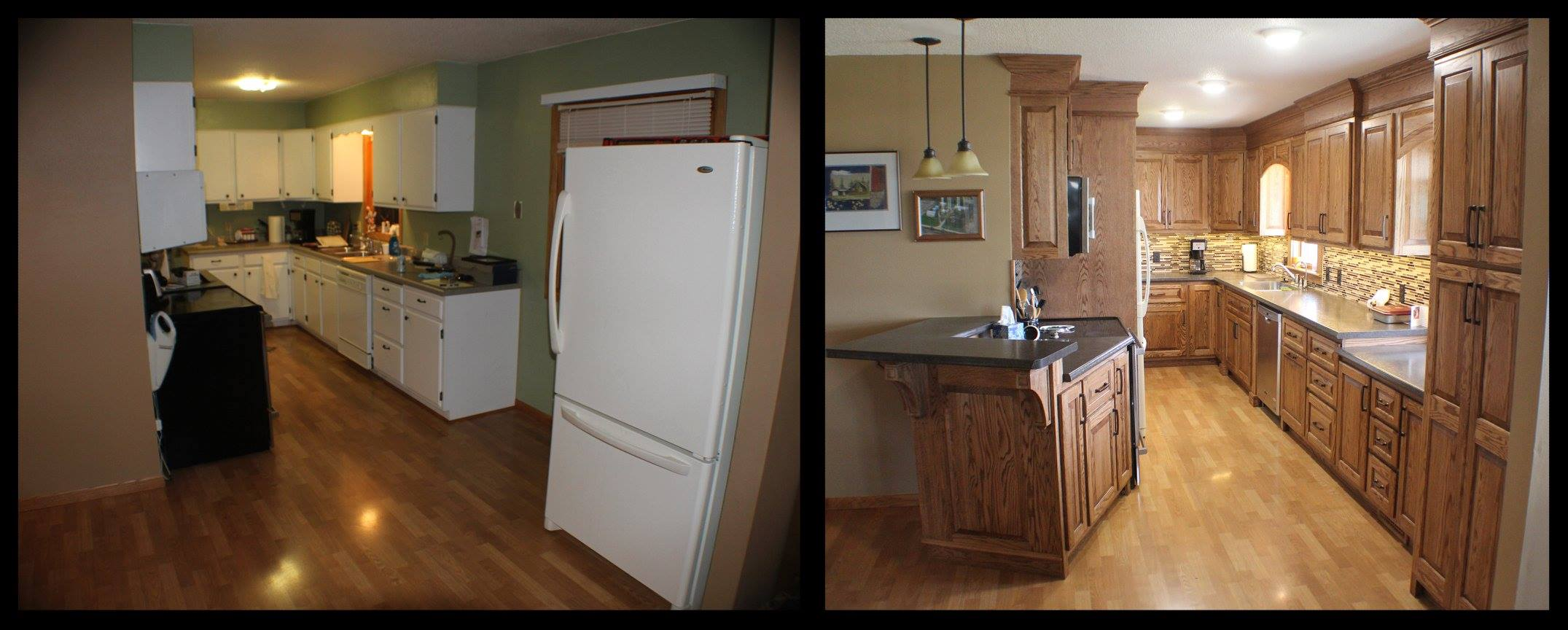 b4 and after-kitchen
