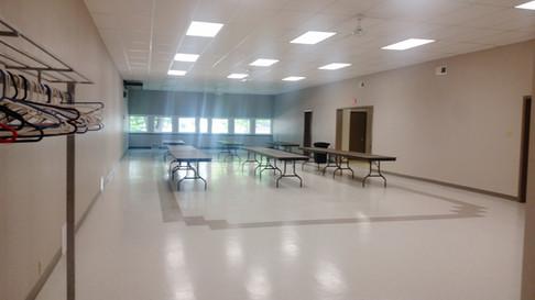 Banquet room (facing North)