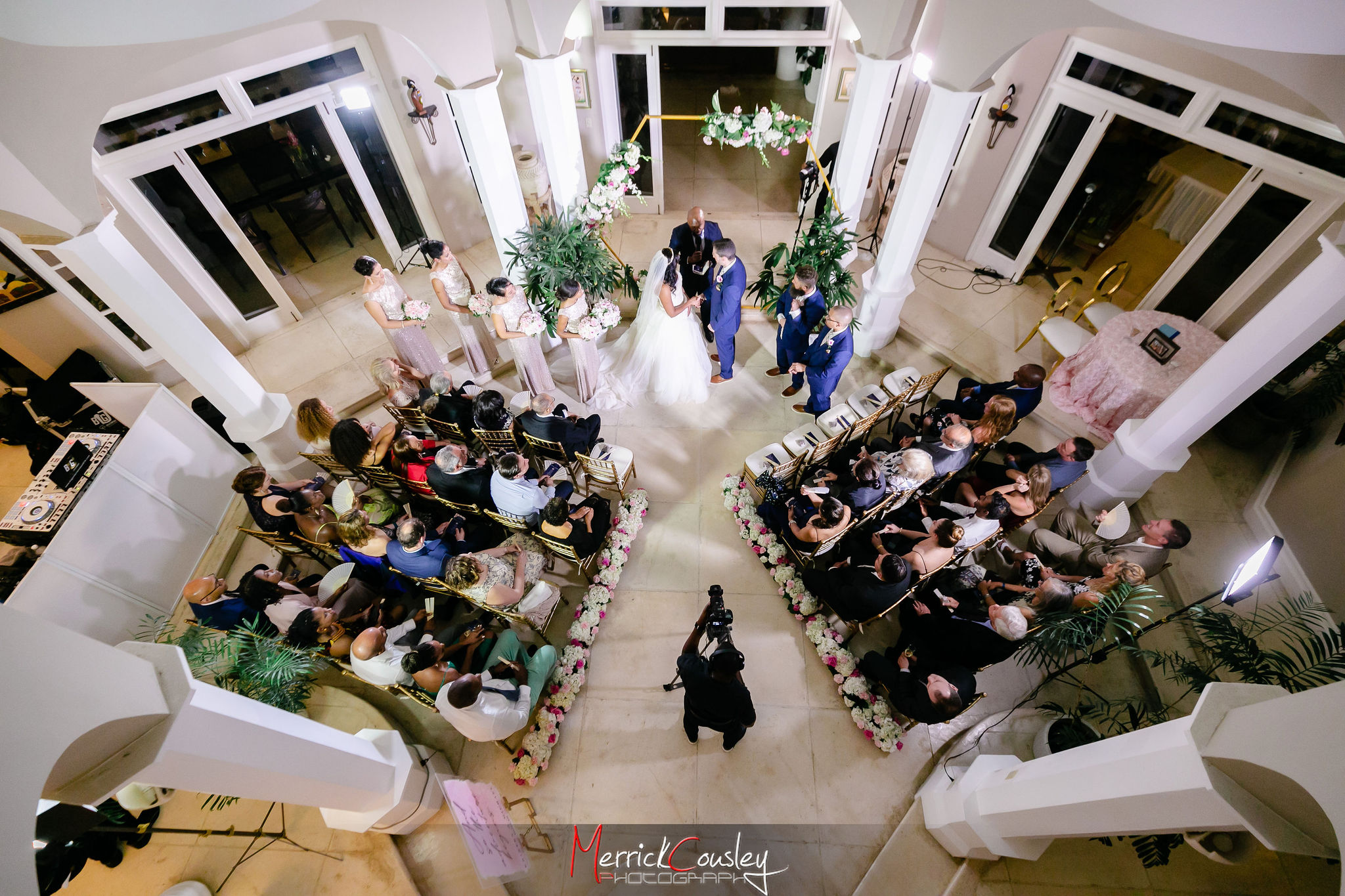 Wedding Ceremony at Endless Summer Villa
