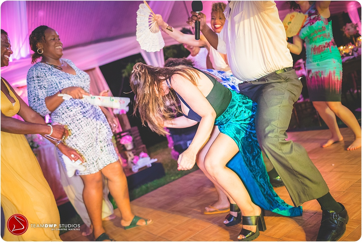 Wedding dancing at Bellefield Great House Mobay