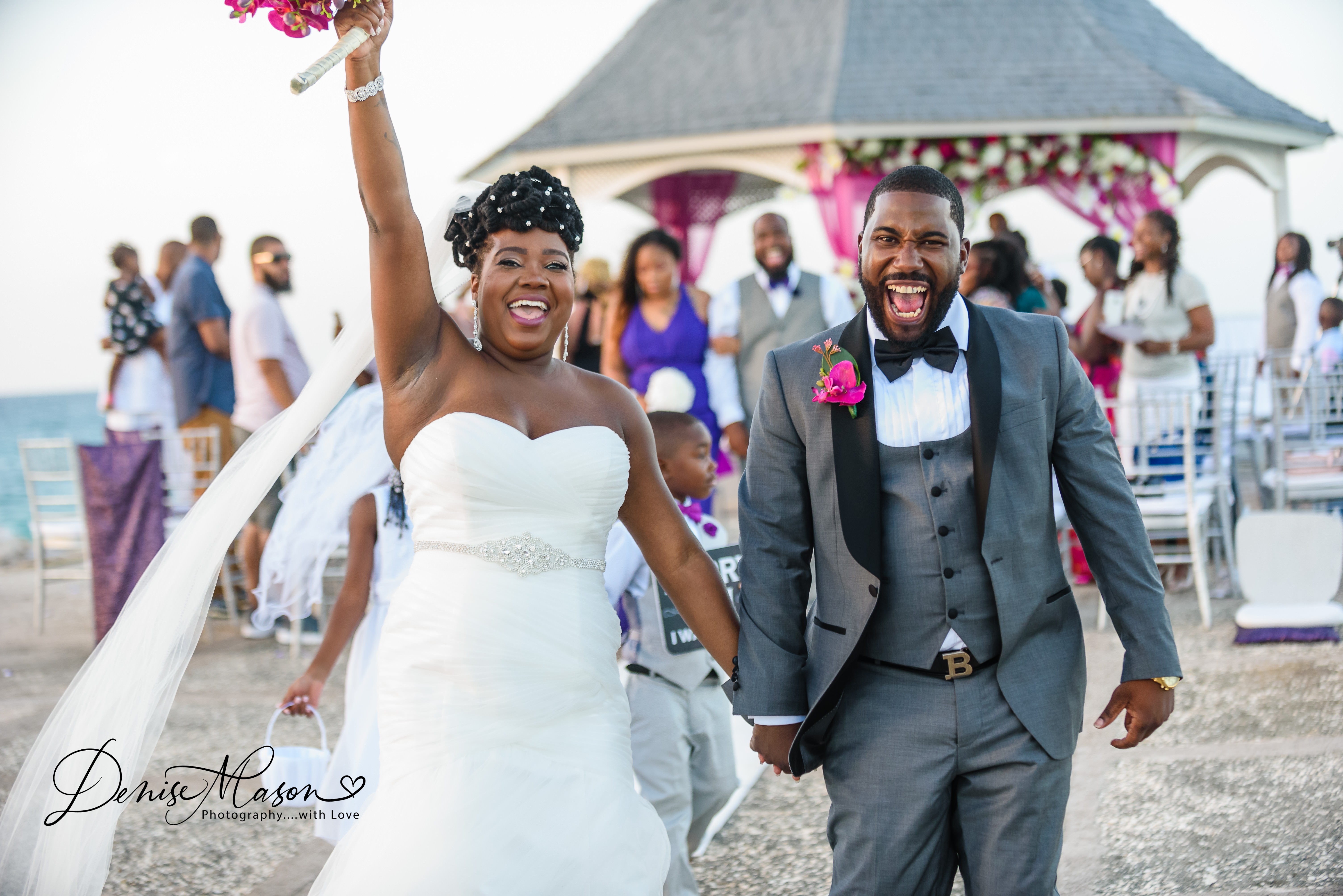 Wedding Ceremony at Silver Sands Duncans Trelawny Jamaica