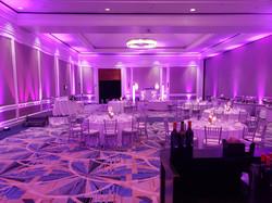 Hyatt Ziva Rose Hall Montego Bay Jamaica Grand Ball Room with purple uplighting