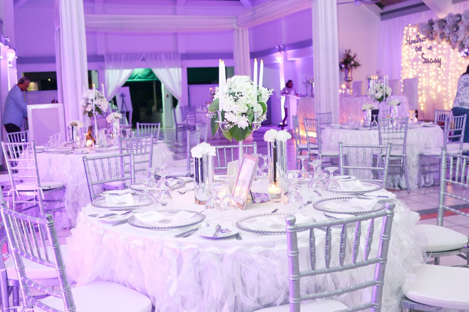 Wedding Decor at Caymanas Golf Club Kingston Jamaica