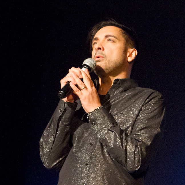 Singer Adrian Christian in a Los Angeles performance during his 3-leg, 4-year, Mission Tour, which resumes in January 2019 and ends in South America.