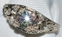#217 - Antique Diamond Engagement Ring WEB