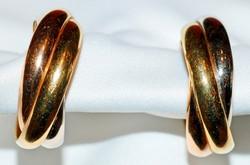 #322 CARTIER Tri-Gold Earrings
