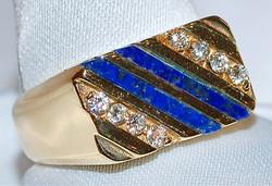 #929 Lapis & .15ct Diamond Ring
