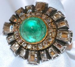 #110 Emerald 5ct & Diamond 6ct Ring