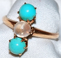 #259 10k Turquoise Moonstone Ring