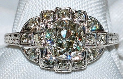 #701 Plat 1.37ct OMC Ring