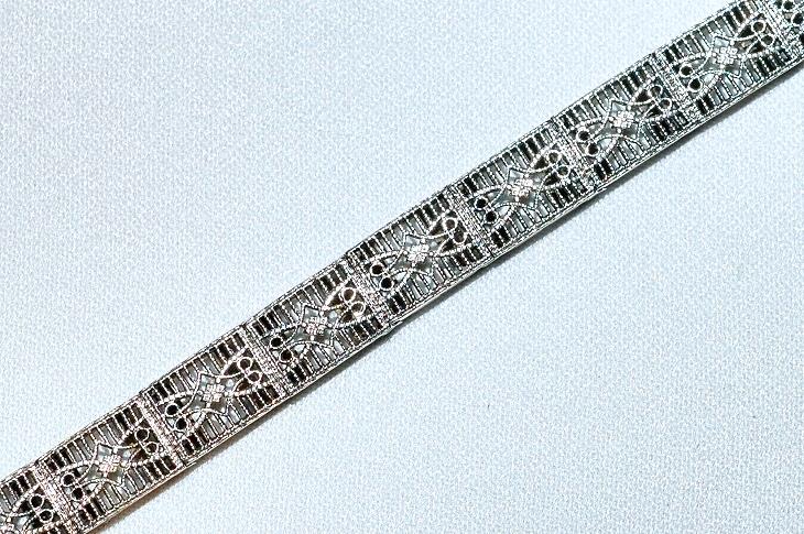 #256 14k Filigree Bracelet 10.7gms