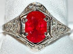 #191 Plat 2.43ct Natural Ruby Ring