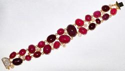 #522 - 18k Ruby & Diamond Bracelet WEB