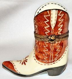 Cowboy Boot Limoges Box