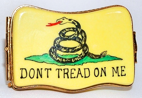 Don't Tread On Me Limoges Box