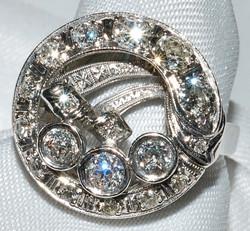 #817  Diamond Dinner Ring WEB