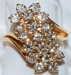 #802 Diamond 2.95ct Waterfall Ring