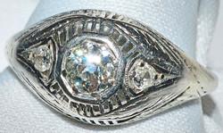 #865 - Art Deco Diamond Ring WEB
