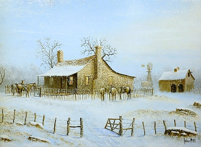 """Warming Up"" Oil by Arthur McCall"