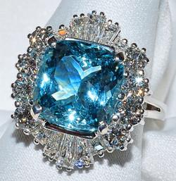 #323 - Aquamarine & Diamond Ring WEB