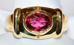 #818 - Cartier 18k Rubellite Ring