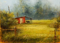 Hot Hazy Afternoon Oil by Dave Ivey