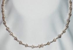 #136 - 18k & Diamond Link Necklace WEB