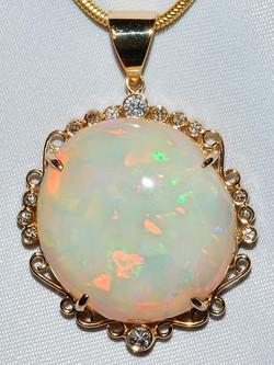 #1121 - Opal Diamond Pendant WEB