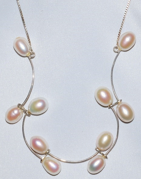 Sterling Fresh Water Pearl Necklace WEB.