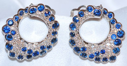 #703 Italian 18k Diamond & Sapphire