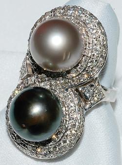 #516 - South Sea Pearl & Diamond Ring WE