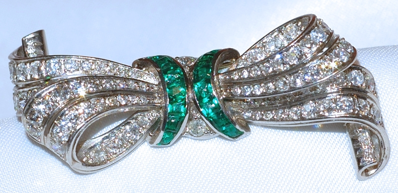 #442 Plat Diamond 2.50cts Brooch