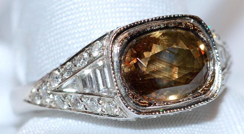 #150 Alexandrite 3.18ct & Dia Ring